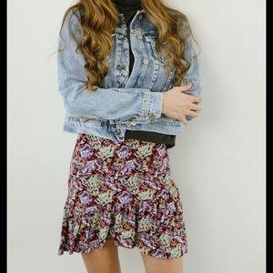 NEW Free People Nadia Mini Skirt Ruffle Size 6